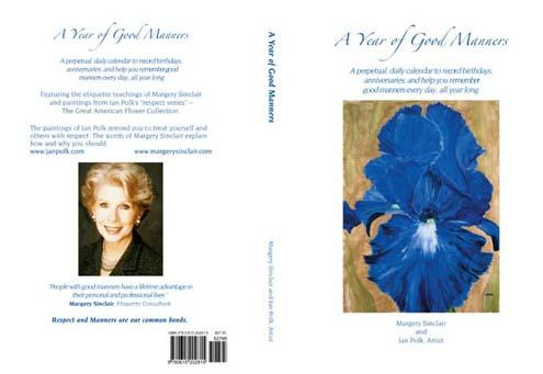 "Book Cover:  ""A Year of Good Manners"" by Margery Sinclair, Author $27.95"